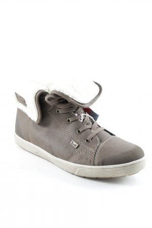 Rieker High Top Sneaker dunkelbraun-wollweiß Casual-Look