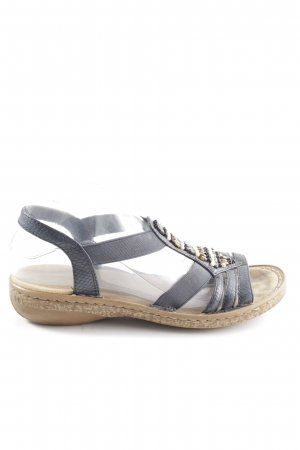 Rieker Komfort-Sandalen schwarz Animalmuster Casual-Look