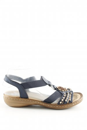 Rieker Komfort-Sandalen blau-braun Casual-Look