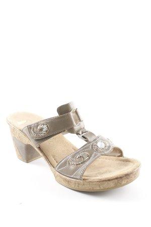 Rieker Sandales confort chameau-gris brun style simple