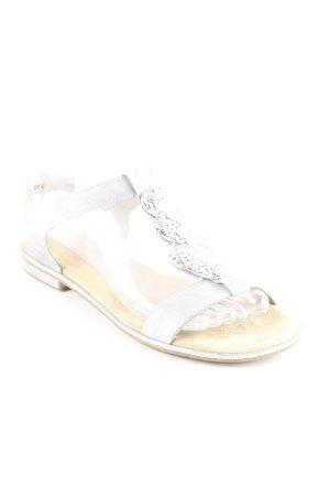 Rieker Comfort Sandals silver-colored elegant