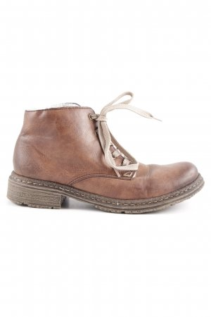 Rieker Short Boots cognac-coloured-dark brown color gradient casual look