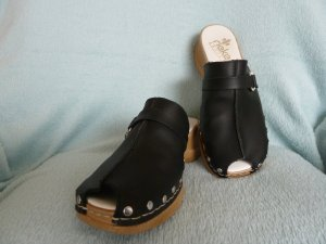 Rieker Sandalias con tacón negro Cuero