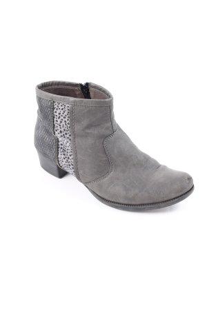 Rieker Reißverschluss-Stiefeletten grau Casual-Look