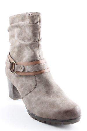 Rieker Stivaletto con zip marrone-grigio stile casual