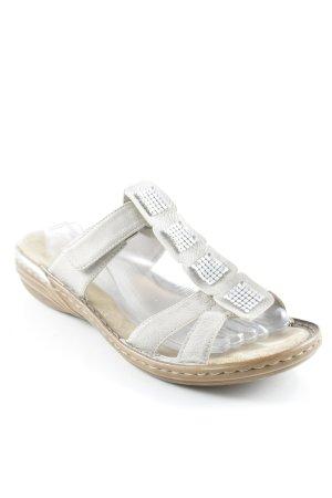 Rieker Strapped High-Heeled Sandals cream street-fashion look