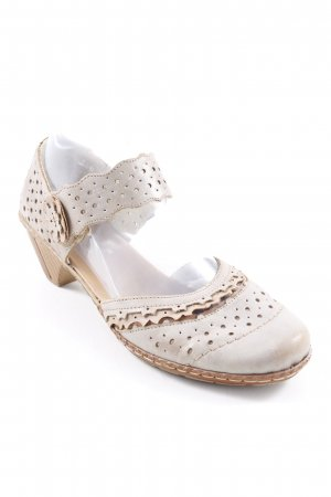Rieker Strapped High-Heeled Sandals oatmeal-beige casual look