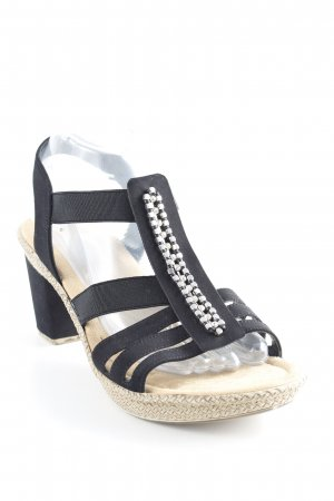 Rieker Strapped High-Heeled Sandals black casual look