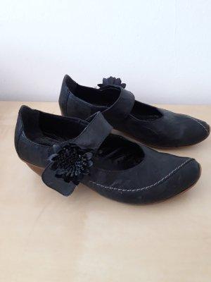 Rieker Sandalo con cinturino e tacco alto nero Pelle
