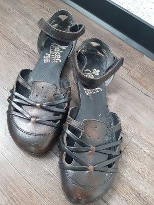 Rieker Sandalias cómodas marrón oscuro-marrón-negro