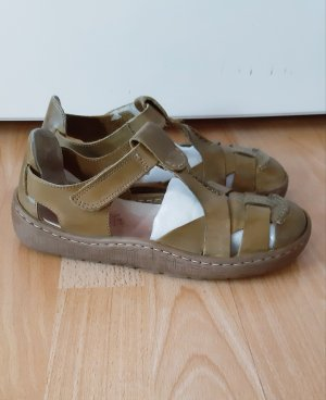 Rieker Strapped High-Heeled Sandals khaki leather