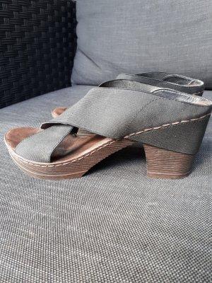 Rieker Sandalias cómodas negro-color bronce tejido mezclado