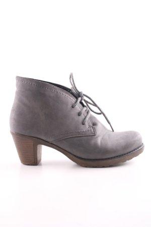 Rieker Bottines à lacets gris clair style décontracté