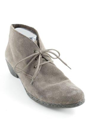 Rieker Patucos con cordones marrón grisáceo look casual