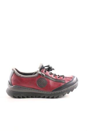 Rieker Schnürschuhe schwarz-rot sportlicher Stil