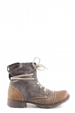 Rieker Lace-up Boots bronze-colored-light grey casual look