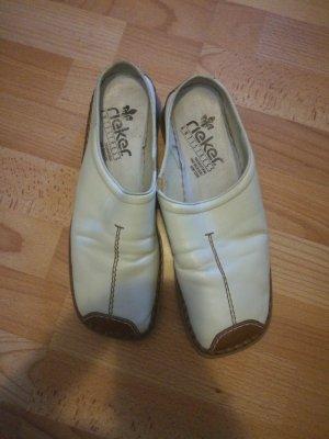 Rieker Sandales confort blanc-marron clair