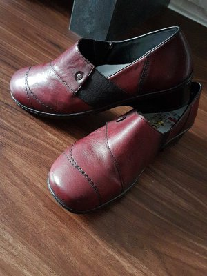 Rieker Schuhe in Weinrot