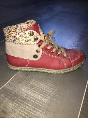 Rieker Schuhe Sneaker rot Blumen Gr. 37