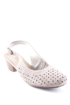 Rieker Slingback Ballerinas beige simple style