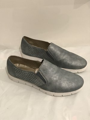 Rieker Sneakers Gr.40 NEU Blau Metallic Slipper Schuhe