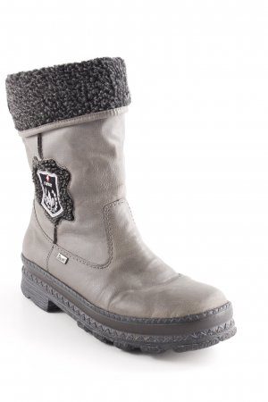 Rieker Snowboots graubraun-schwarz Casual-Look