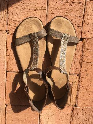Rieker Sandalen met bandjes donkerbruin-beige