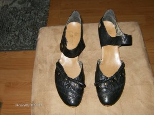 Rieker Strapped pumps black leather