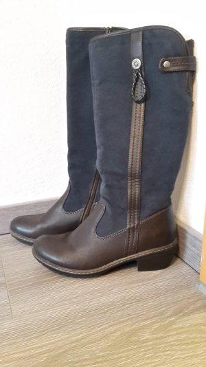 Rieker-Stiefel, braun-blau, Größe 37