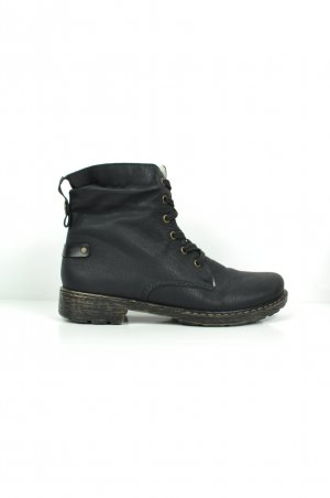 Rieker Lace-up Boots black-white leather