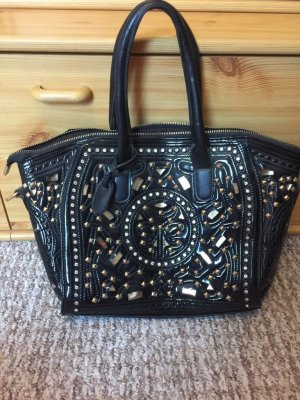 Rieker Tasche gold schwarz sehr gut erhalten