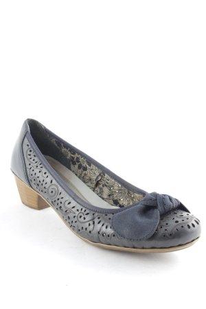 Rieker Zapatos Informales azul oscuro estampado con aplicaciones look casual