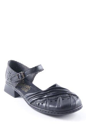 Rieker Loafers zwart casual uitstraling