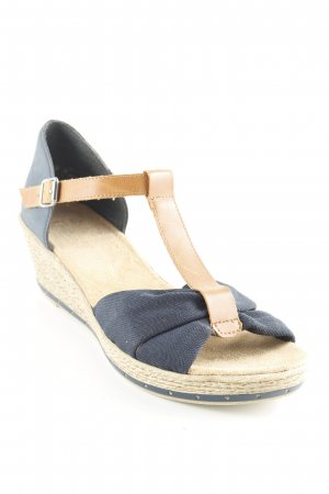 Rieker Wedge Sandals multicolored sailor style
