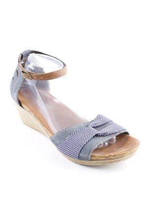 Rieker Wedge Sandals spot pattern casual look