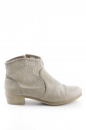 Rieker Western Booties light grey-natural white casual look