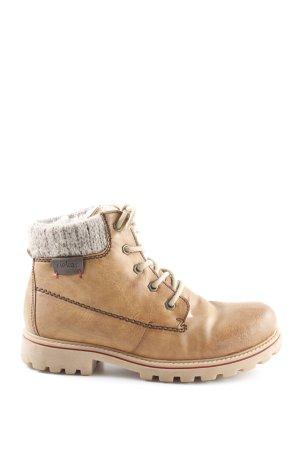 Rieker Winter boots cognac-grijs-bruin Logo applicatie (leer)