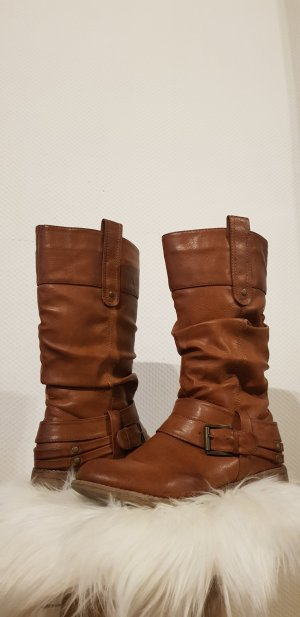 Rieker Winter Booties brown-cognac-coloured
