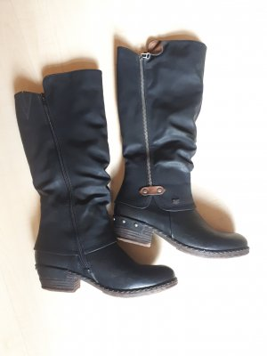 Rieker Winter Boots black imitation leather
