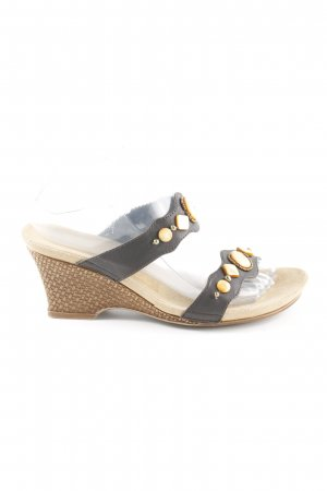 Rieker High-Heeled Toe-Post Sandals taupe casual look