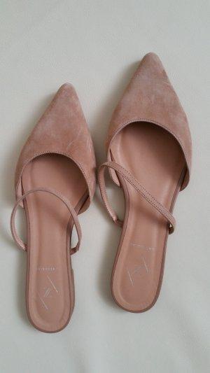Strappy Ballerinas sand brown suede