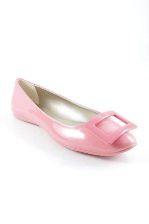 Ballerines à lacets rose fluo élégant