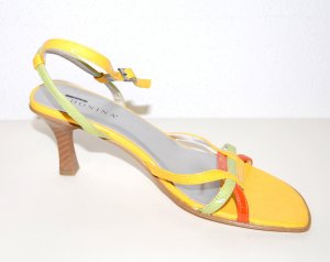 Made in Italy Strapped High-Heeled Sandals multicolored imitation leather