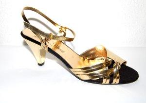 Riemchen Sandale gold von Made in Italy Gr.36