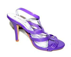 Andrea Conti T-Strap Sandals lilac imitation leather