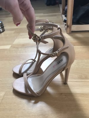 Just Fab Strapped Sandals nude