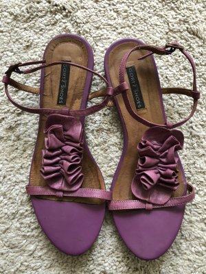 Görtz Strapped Sandals blue violet leather