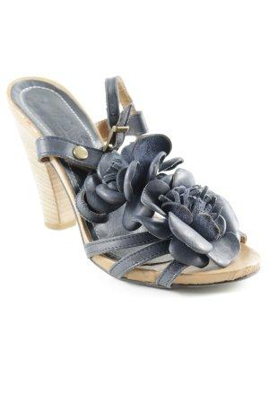 Sandalo con cinturino blu-color cammello stile casual