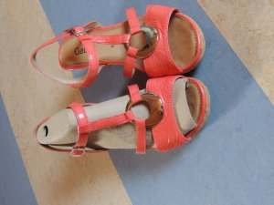 Gabor Strapped Sandals salmon leather