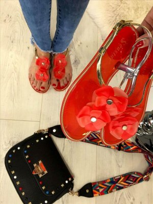 Espadrille Sandals red-gold-colored